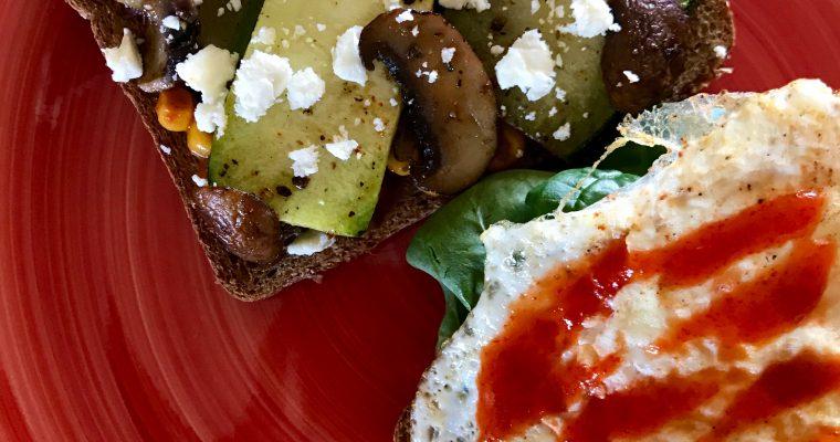 Spicy Zucchini & Feta Breakfast Sandwich