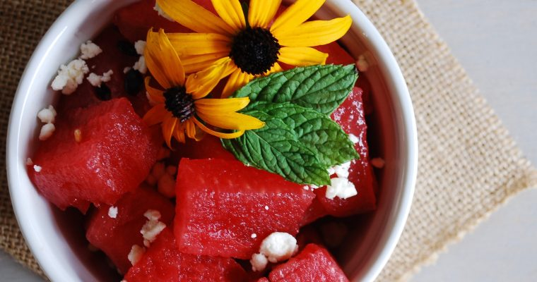 Simple Watermelon & Feta Salad