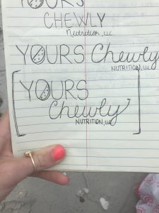 Yours Chewly Nutrition Logo